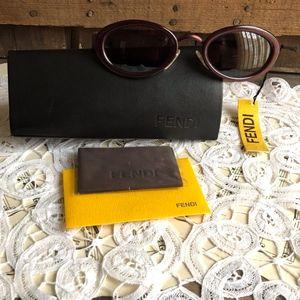 Fendi Sunglasses with case dust cloth COA Unisex